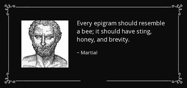 Epigram quote