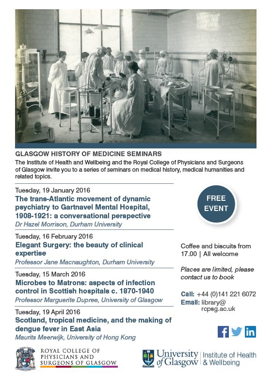 Glasgow histmed events