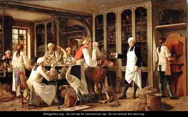 Louis Jean Marie Daubenton 1716-99 in his Laboratory by Benjamin Eugene Fichel