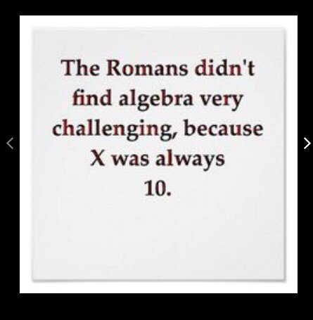 Roman Algebra