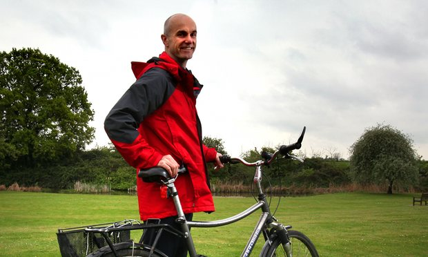 David MacKay achieved cult status among climate and energy aficionados following the publication of Sustainable Energy: Without the Hot Air in 2008. Photograph: Graham Turner for the Guardian