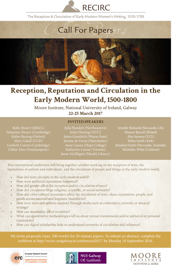 CFP Early Modern World