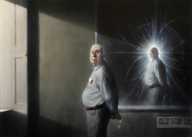 Ken Currie: Portrait of Peter Higgs, 2008