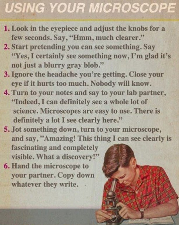 Fake Science: Using Your Microscope