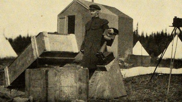 Annie with her solar camera at the Canadian Eclipse Station in Labrador, August 1905