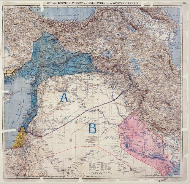 The Sykes–Picot Agreement map