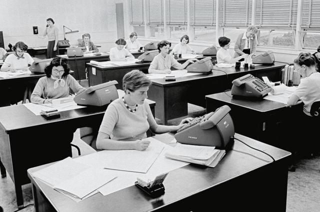 "At NASA's Jet Propulsion Lab in Pasadena, California, women were hired to be ""computers,"" the people responsible for doing all the math at the lab. ""They touched just about every mission you can think of,"" says Nathalia Holt.  PHOTOGRAPH BY NASA, JPL-CALTECH"