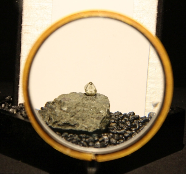 Typical crystal of diamond on matrix