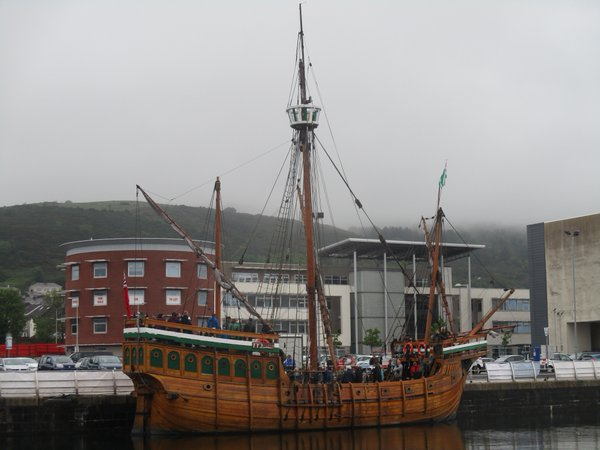 The Matthew, recreation of John Cabot's 1497 ship visiting Swansea