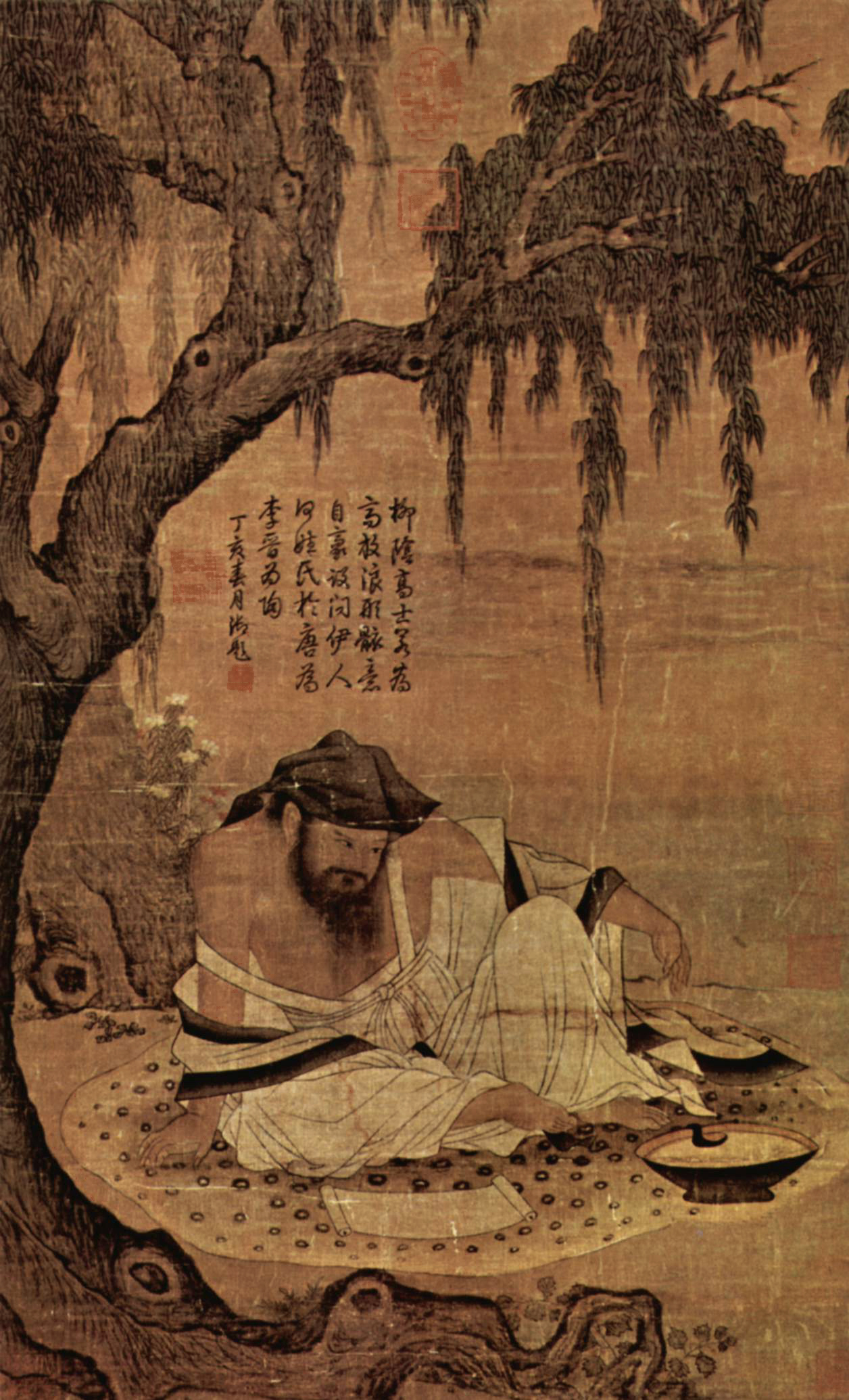 Scholar In A Meadow, Chinese Painting Of The 11th Century