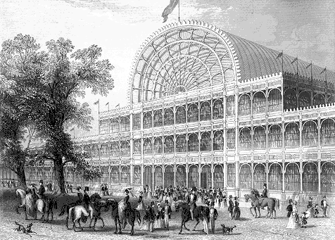 The transept façade of the original Crystal Palace Source: Wikimedia Commons