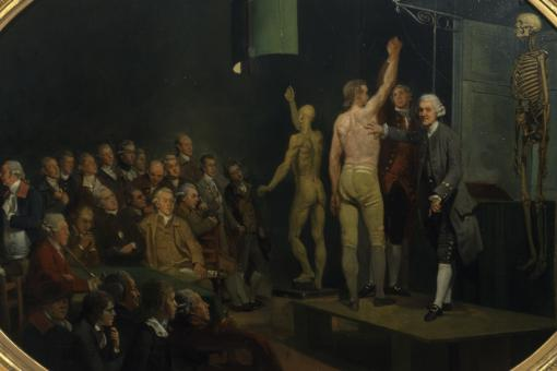 William Hunter lecturing, by Johan Zoffany, c.1770-2