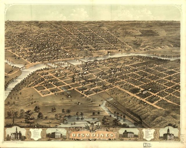 Des Moines, Ia. (Image: A. Ruger/Library of Congress, Geography and Map Division)