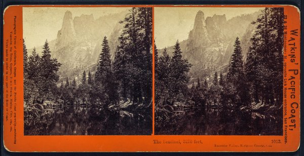 The Sentinel, in a stereograph card in Watkins' Pacific Coast series (Library of Congress)
