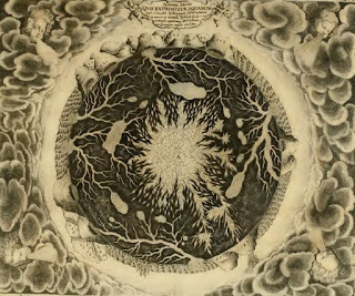"""Bircher Section of the Earth from """"Mundus Subterraneus"""", first edition published in 1664-1665. -"""