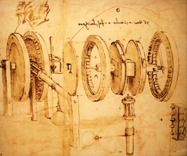 Leonardo da Vinci Gear Illustration