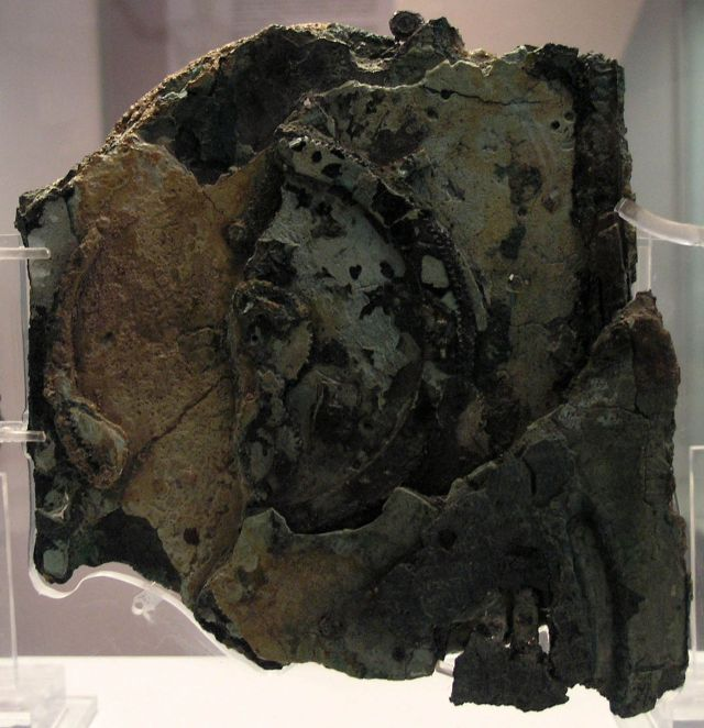 The Antikythera mechanism (Fragment A – back) Source: Wikimedia Commons