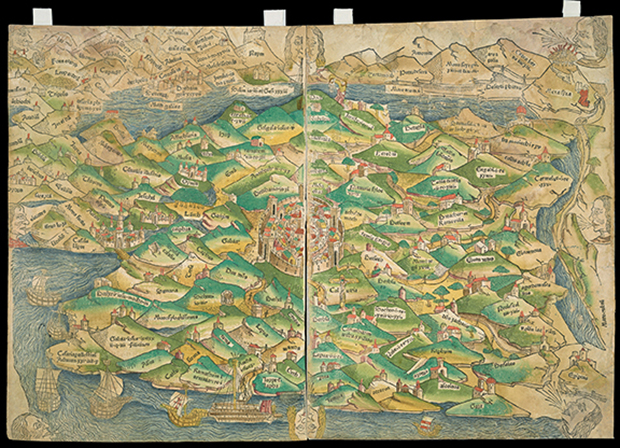 Palestine, 1475 / courtesy Osher Map Library and Smith Center for Cartographic Education