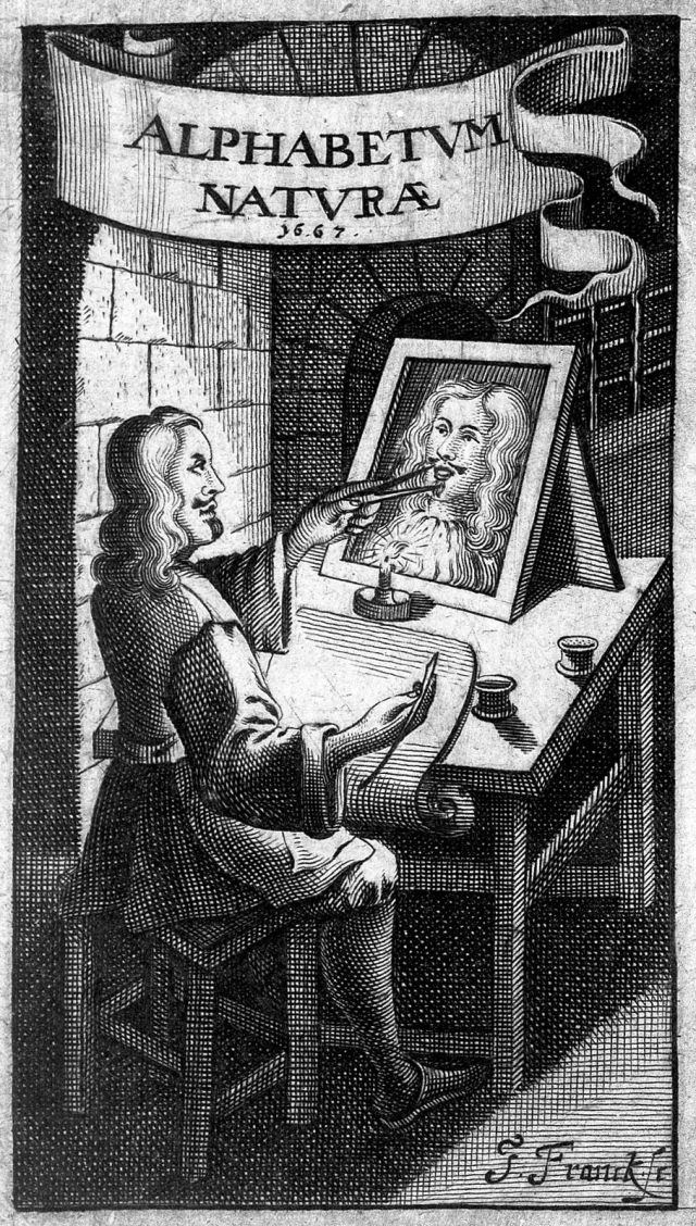 Frontispiece to Francis van Helmont's Alphabeti vere Naturalis Hebraici (1667) — Source: Wellcome Library, London (CC-BY 4.0).