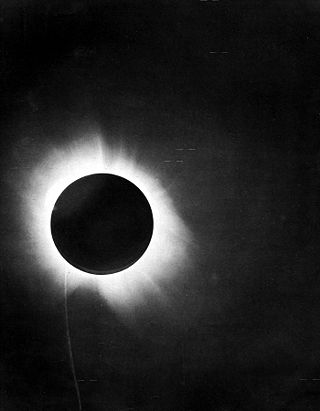 Solar Eclipse 1919 From the report of Sir Arthur Eddington on the expedition to the island of Principe (off the west coast of Africa). Source: Wikimedia Commons