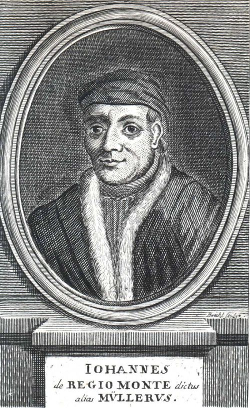 Johannes Regiomontanus, Woodcut Source: Wikimedia Commons