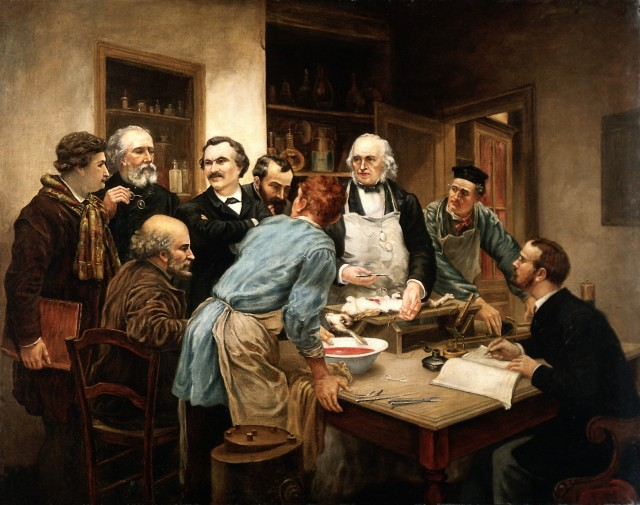 V0017769 Claude Bernard and his pupils. Oil painting after Léon-Augus Credit: Wellcome Library, London. Wellcome Images images@wellcome.ac.uk