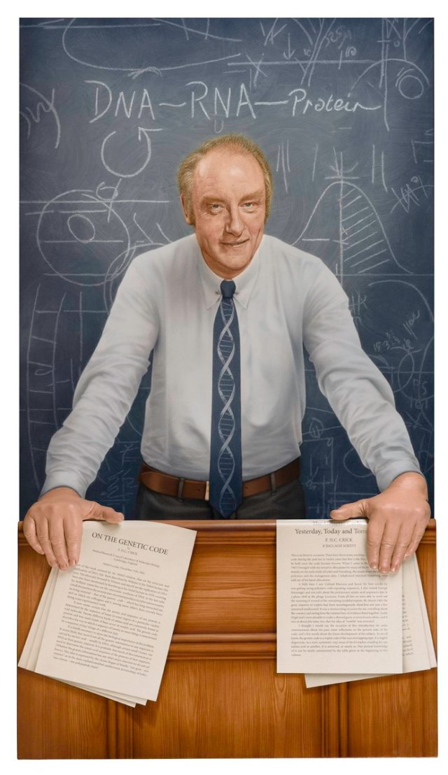 Francis Crick's 100th birthday: see his new portrait in @The Crick's building