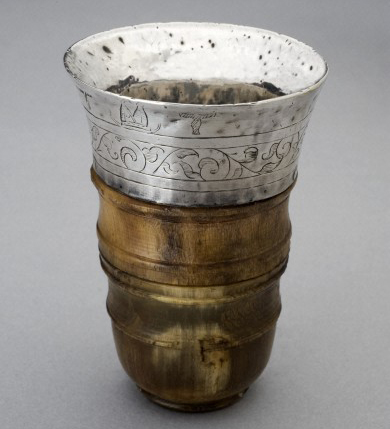 L0058375 Cup for detecting poison, Europe, 1551-1660 Credit: Science Museum, London. Wellcome Images images@wellcome.ac.uk http://wellcomeimages.org Assay cups such as this one were used to taste wine. This cup is made from silver and rhinoceros horn. The rhinoceros horn was said to change colour and sweat if poison was placed in the cup. maker: Unknown maker Place made: Europe made: 1551-1600 Published:  -  Copyrighted work available under Creative Commons Attribution only licence CC BY 4.0 http://creativecommons.org/licenses/by/4.0/