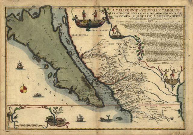 La Californie ou Nouvelle Caroline : teatro de los trabajos, Apostolicos de la Compa. e Jesus en la America Septe.