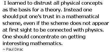 Dirac quote