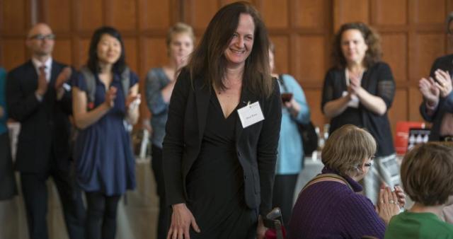 Prof. Alison Winter at the award ceremony for the 2014 Gordon J. Laing Prize. Photo byRobert Kozloff