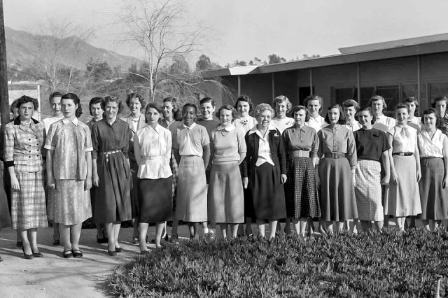 "The women of the Jet Propulsion Laboratory helped launch the first American satellites, lunar missions and planetary explorations. Those ""human computers,"" as they were called, are seen here in 1953."
