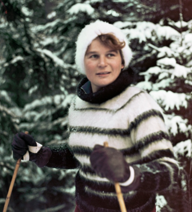 Tereshkova, skiing, 1964 RIAN archive 16350 Source: Wikimedia Commons