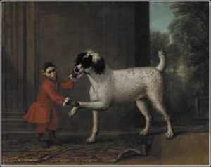 A Favorite Poodle And Monkey Belonging To Thomas Osborne, The 4th Duke of Leeds, By John Wootton, Public Domain