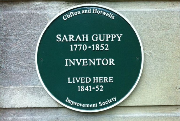 Sarah Guppy Plaque C
