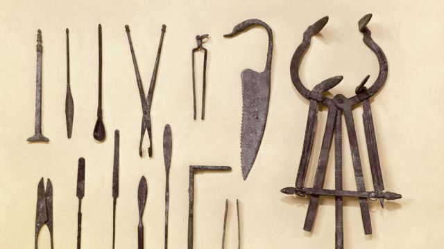 Graeco-Roman surgical instruments. Credit: Wellcome Library, London. Wellcome Images