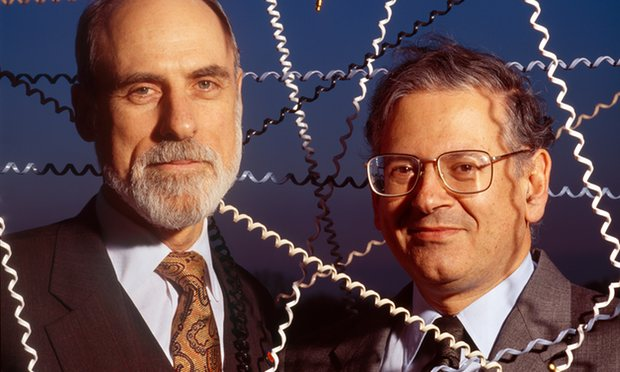Vinton Cerf, left, and Robert Kahn, who devised the first internet protocol. Photograph: Louie Psihoyos/Corbis