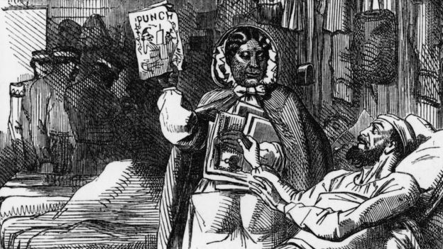 Punch magazine pays tribute to Mary Seacole during the Crimean War in 1857 Getty Images