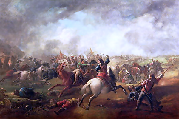 The Battle of Marston Moor, by J. Barker Source: Wikimedia Commons