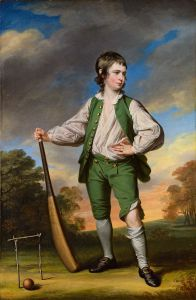 Francis Cotes, The Young Cricketer, 1768 Source: Wikimedia Commons