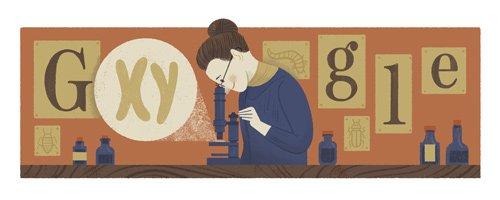 Google Nettie Stevens Doodle