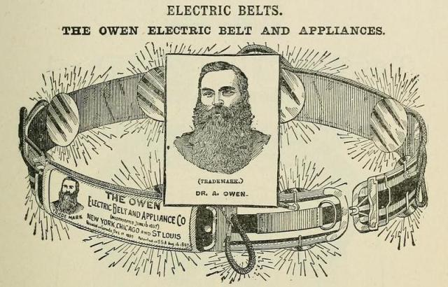 The electropathic belt was one of the most popular consumer medical products on the market during the 19th century. [Photo: Arallyn!/CC BY 2.0]