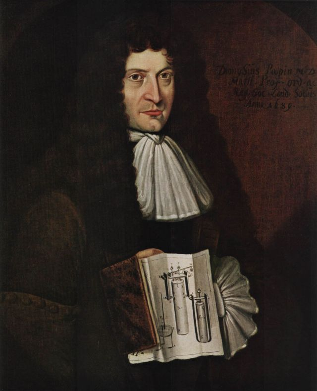 Denis Papin, unknown artist, 1689. Source: Wikimedia Commons