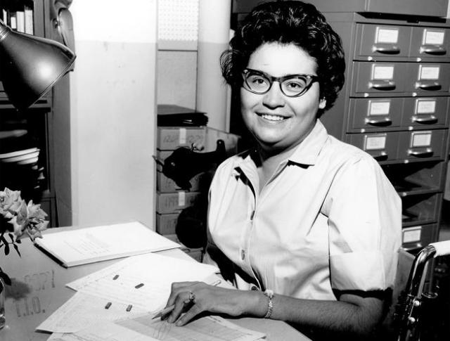 Catherine Candelaria working as a mathematician and computer programmer at Boulder's National Bureau of Standards in the 1960s. (National Telecommunications and Information Administration, Institute for Telecommunication Sciences / Courtesy Photo)