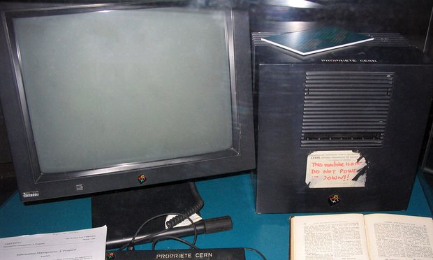 The first web server, originally at CERN in Switzerland. Photograph: By Coolcaesar at the English language Wikipedia, CC BY-SA 3.0, https://commons.wikimedia.org/w/index.php?curid=395096