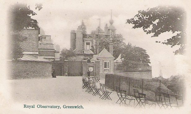 The Royal Observatory, Greenwich, in an early 20th-century postcard. Note the closed gates. Photograph: Wikipedia