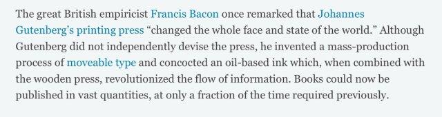 Bacon on Guttenberg