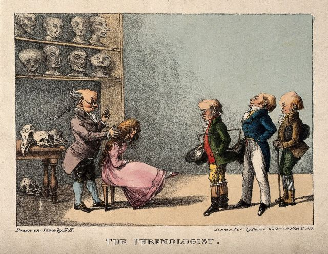 Franz Joseph Gall examining the head of a pretty young girl Source: Wikimedia Commons