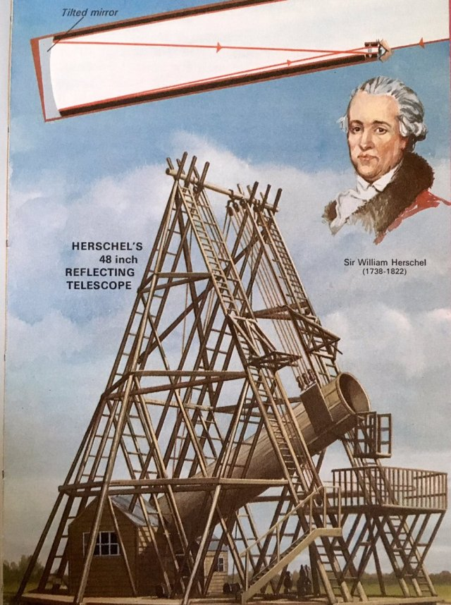 Today in Ladybird 28 Aug 1789, William Herschel, probably using this telescope, discovers new moon of Saturn
