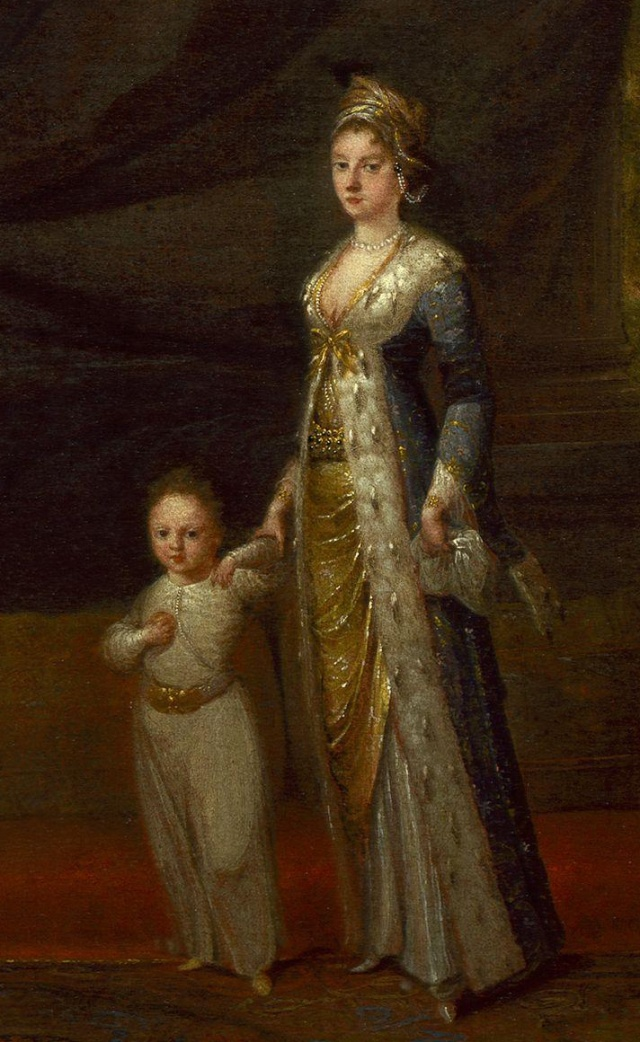 Mary Wortley Montagu with her son Edward, by Jean-Baptiste van Mour Source: Wikimedia Commons